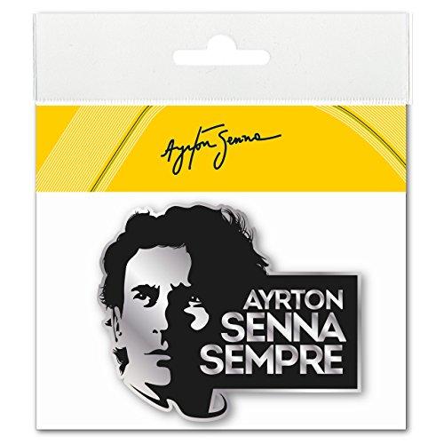 3d-epoxy (Ayrton Senna Aufkleber Sempre 3D EPOXY schwarz-silber)
