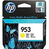 Cartouche Jet d'encre N°953 Jaune HP (10 ml) sous blister - Capacité 700 pages - pour Imprimante Jet d'encre : HP Officejet Pro 8210 / 8700 Series / 8710 / 8715 / 8720 / 8720 Series / 8725 / 8730 / 8740