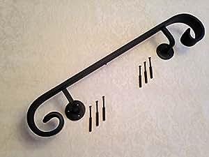Fer forgé Barre d'appui à ventouses 50 cm de Long, idéale pour etc. Siliconesupplies quelques étapes.