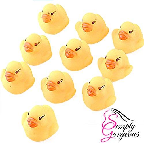 Mini-jaune heure du bain bain de canard en caoutchouc jouet jeu eau grincent fun enfants (10 Anatre Piccolo Gomma)
