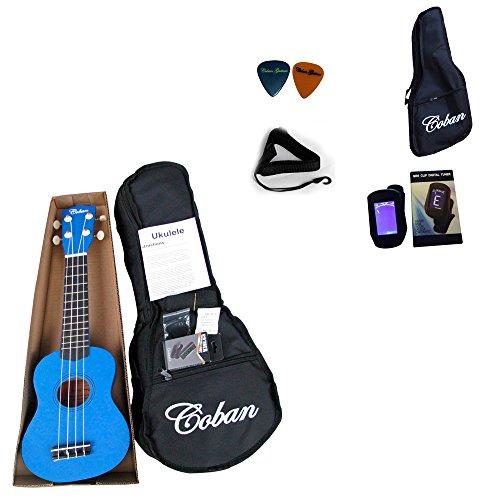 coban-sopran-ukulele-in-4-tollen-farben-dunkelblau-violett-schwarz-und-hell-blau-inklusive-10-mm-gep