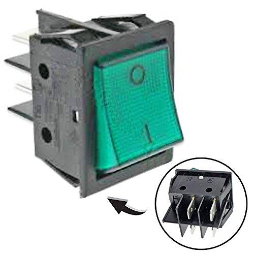 spares2go sw69grün neon auf/von Rocker Schalter Einheit für Lincat Lampe Wärmer Bar/beheizt Display -