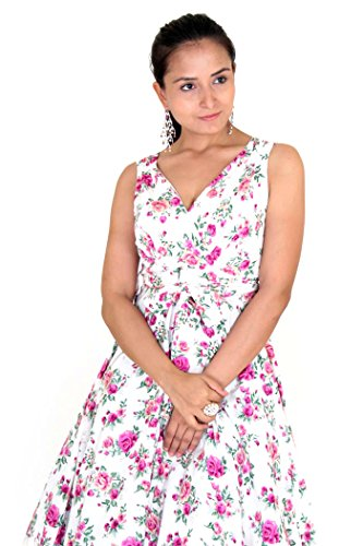 New Dress 40s 50s Style Swing Vintage Rockabilly Ladies Floral Bird Womens Party Dresses Plus Size 10