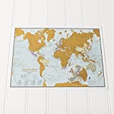 Travel sized edition Scratch the World® map print is the perfect gift for the globetrotter on the go. This is a brilliant travel sized concept map allowing visited destinations to be scratched off revealing the beautifully styled up-to-date world map...