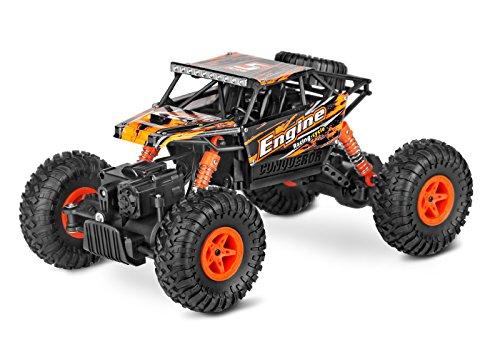Jasonwell Neues 2,4Hz 1:18 Rennauto RC-Auto, Ferngesteuertes Auto, Elektronischer Geländewagen, funkgesteuertes Auto, Off-Road-Auto (Orange)