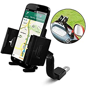 Seluxion - Support Universel sur Moto ou Scooter pour tout smartphone Apple, Samsung, Wiko, LG, Acer, HTC, Yezz, Alcatel, Sony, Kazam, SFR, Orange, Haier, Huawei