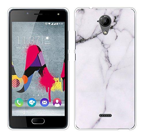 Für Wiko U Feel Lite Hülle Silikon,Sunrive Handyhülle Schutzhülle Etui Case Backcover für Wiko U Feel Lite 5,0 Zoll(tpu Marmor Weißer)+Gratis Universal Eingabestift