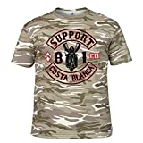 Photo de Hells Angels WorldWide Support Store / Big Red Machine World - Biker Noir T-Shirt Support81 Big Red Machine Hells Angels - Camouflage Sand, XX-Large par Hells Angels WorldWide Support Store / Big Red Machine World