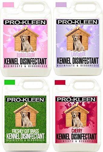 4-x-5-litres-of-pro-kleen-pet-kennel-disinfectant-deodoriser-1-x-bubblegum-1-x-lavender-1-x-cherry-a