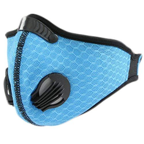 YueShi Atemschutzmaske für den Außenbereich, staubdicht, Aktivkohlefilterung, Herren, BL