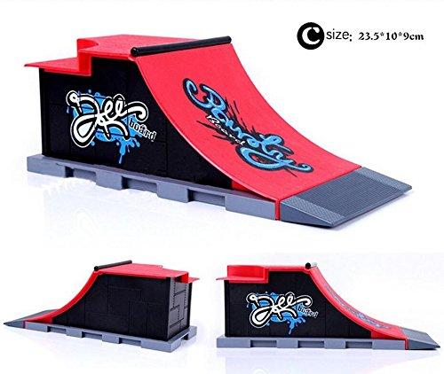 Griffbrett Skatepark, Finger Skateboard Rampen für Tech Deck Circuit Board Mini DIY Finger Skate Boarding Ultimate Sport Training Stützen Spielzeug von AumoToo (C) (Mini Rampe)