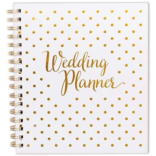 Agenda per matrimonio, diario e organizzazione, regalo di fidanzamento, calendario per conto alla rovescia, bianco e oro