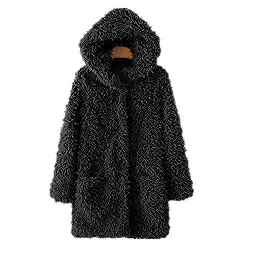 Vectry Abrigo Negro Mujer Camisa Blanca Abrigos para Mujer Cortavientos Cortavientos Mujer Abrigo Plumon...