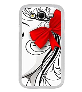 Girl Sketch with Hair Bow 2D Hard Polycarbonate Designer Back Case Cover for Samsung Galaxy Grand I9082 :: Samsung Galaxy Grand Z I9082Z