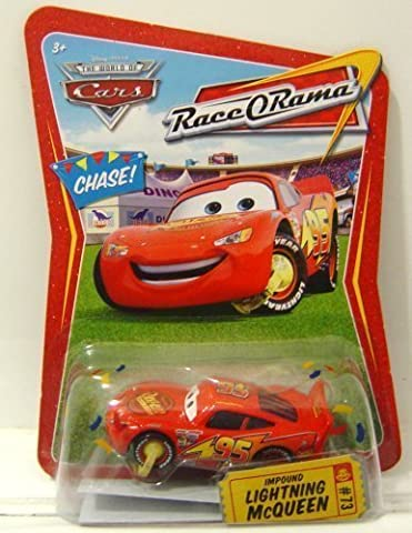 Disney Pixar Cars - Race O Rama Series - Impound Lightning Mcqueen - Limited Edition by Mattel