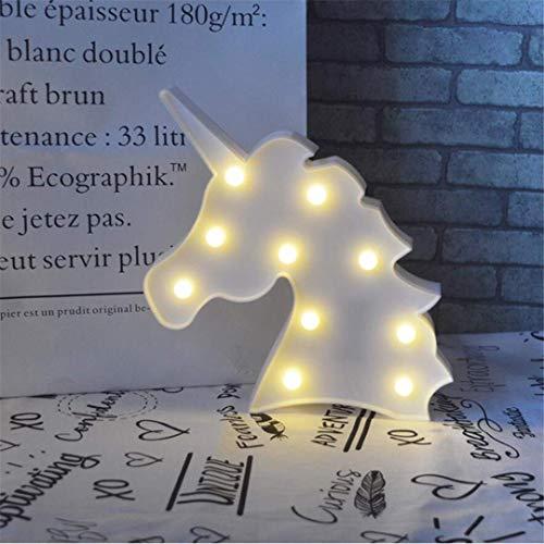 CC6 Lumière de Nuit Blanc Ins Accessoires de Tête de Licorne Tir Décoratif Lumières LED Lampe de Bureau Mignon Salle des Enfants Styling Nuit Lumière Rêve Tenture Murale