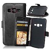 Handy schützen, Leder Karteninhaber Geldbörse Stehen Klappdeckel mit Rahmen für Samsung-Galaxiekern Prime/Kern LTE/Xcover 3 / Grand neo + für Samsung