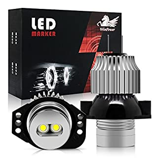 Win Power 6W Headlight Angel Eye CREE LED Marker Halo Ring Light Bulb Xenon White 6000K Conversion