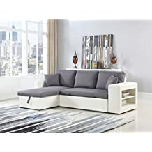 Sofá esquinero Allen luxe - Blanco / Gris