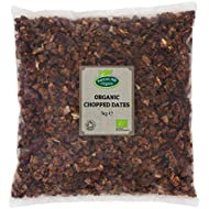 Organic Chopped Dates 1kg by Hatton Hill Organic - Free UK Delivery