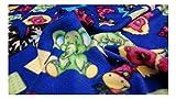 Fabrics-City % BLAU/BUNT TIERMOTIV POLAR FLEECE STOFF