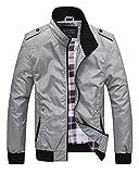 Homme Blouson Léger en Zip Col Montant Casual Manches Longues Slim Fit Jacket Veste...