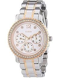 Guess Damen-Armbanduhr XS Analog Quarz Edelstahl beschichtet W0305L3