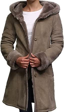 BRANDSLOCK Donne Spagnolo Merino Autentico Montone di Pecora Toscana Leather Coat