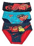 Disney Pixar Cars Slips Hosen Unterhosen Unterwäsche Slips - 3 Pack - 100% Baumwolle (4 - 5 jahre (104 – 110cm), Design 1)