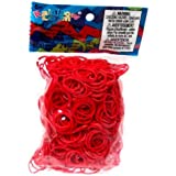 Official Rainbow Loom 600 Red Refill Bands w/ C Clips