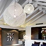 TIANLIANG04 kronleuchter Die Kommission Kugel Kronleuchter rattan ball Balkon Restaurant ma Kugel Licht Schlafzimmer Lampen, Durchmesser 40 cm.