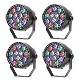 TSSS DMX Par Licht (4 Stücke) Mischfarbe LED RGBW Ton Aktivieren Disco Beleuchtung für Parteierscheinen KTV DJ Hochzeit