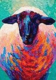 Toland Home Garden Here's Looking at Ewe 12.5 x 18 Inch Decorative Colorful Barnyard Farm Sheep Garden Flag