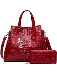 09fc78fb74082 Mode Pu-Leder Frauen Krokodil Muster Messenger Bags Handtaschen  Schmetterling Quaste Freizeit Tote