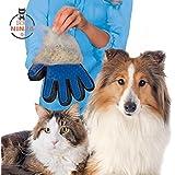 Pet Ninja Pet/Haustier Premium Fellpflege-Handschuh,Bürste Handschuh, Rechte Hand, Blau