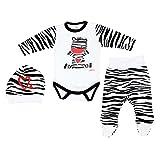 3er Set Baby Bekleidung Neugeborene Mädchen Jungen Langarm-Body mit Aufdruck