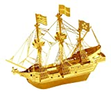 Fascinations Metal Earth MMS049G - 502467, Golden Hind Goldenes Modell, Konstruktionsspielzeug, 1 Metallplatine, ab 14 Jahren