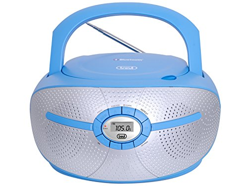 Trevi 0CM55204 Digital Azul, Gris Sistema estéreo portátil - Radio CD (Digital, FM,PLL, Jugador, LCD, Azul, Gris, AC/Batería)