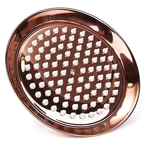 Duschkopf Handbrause 8 Zoll Antik Vintage Rotkupfer Roségold Runde Badezimmer Regenhauptbadezimmer Produkt Wassersparend leicht zu reinigen langlebig und einfach zu installieren