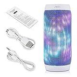 Excelvan AEC Haut-Parleur Enceintes LED Stereo Bluetooth 3.0 TF Carte de Soutien Radio FM Card Reponse Appels Fontion pour Android IOS Téléphone / PC / Tablet / PSP