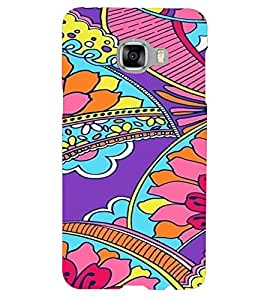 PrintVisa Corporate Print & Pattern Modern Art Floral 3D Hard Polycarbonate Designer Back Case Cover for Samsung C5