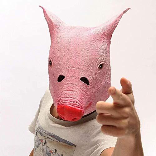 Schwein Kostüm Beängstigend - Horror Schwein Maske Gruselig Halloween Tier Kostüm Theater Prop Neuheit Latex