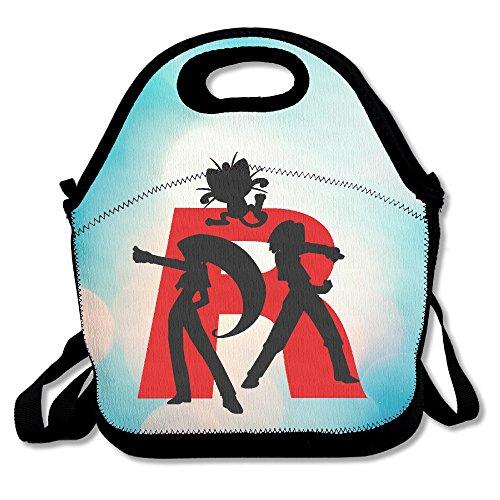 (Bakeiy Team Rocket R Lunchtasche aus Neopren für Kinder und Erwachsene für Reisen und Picknickschule)