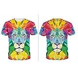 Tee Shirt Homme Grande Taille Imprimé T-Shirt Homme à Manche Courte Tees Shirt...