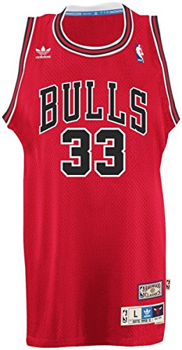 Scottie Pippen Chicago Bulls Adidas NBA Throwback Swingman Jersey Maillot - Red