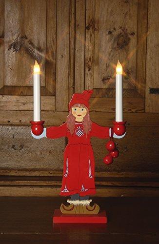 50 x 30 cm Star Flicka Diseño de chica con diseño de candelabro con 2 luces