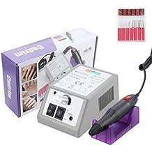 Cadrim Torno de Uñas Profesional para Manicura y Pedicura 20000 RPM + 30 pedacitos eléctricos del taladro del archivo de clavo+6 pedazos opcionales / cabezas archivadores