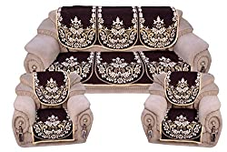 sofa covers radhey home furnishing (set of 6 pcs)