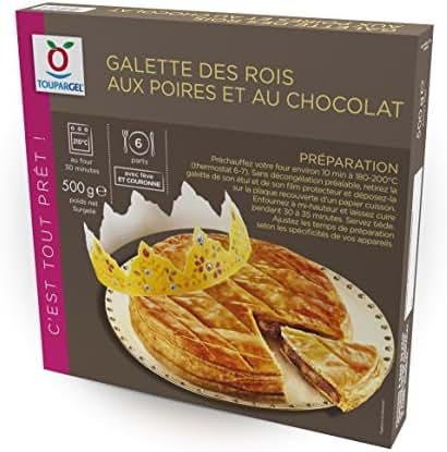 TOUPARGEL - Galette des rois aux poires et au chocolat - 500 g - Surgelé