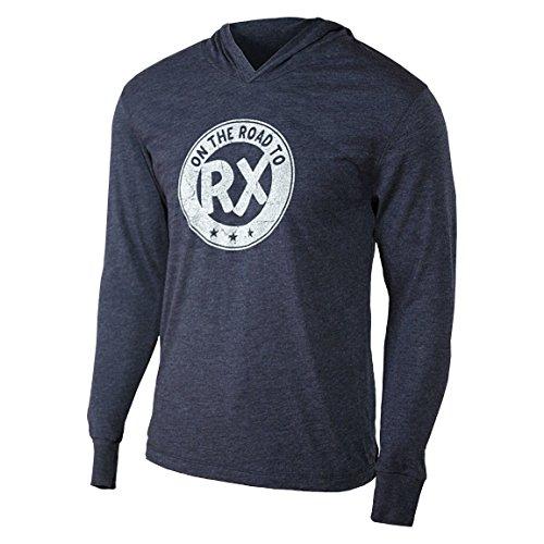 On The Road To RX-Marineblau-Herren Training Long Sleeve Triblend Hoody Workout Shirt, Herren, navy -